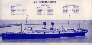 The S.S. Corregidor of the Compañia Maritima, which sank on December 16, 1941. Photo from Chad Hill.
