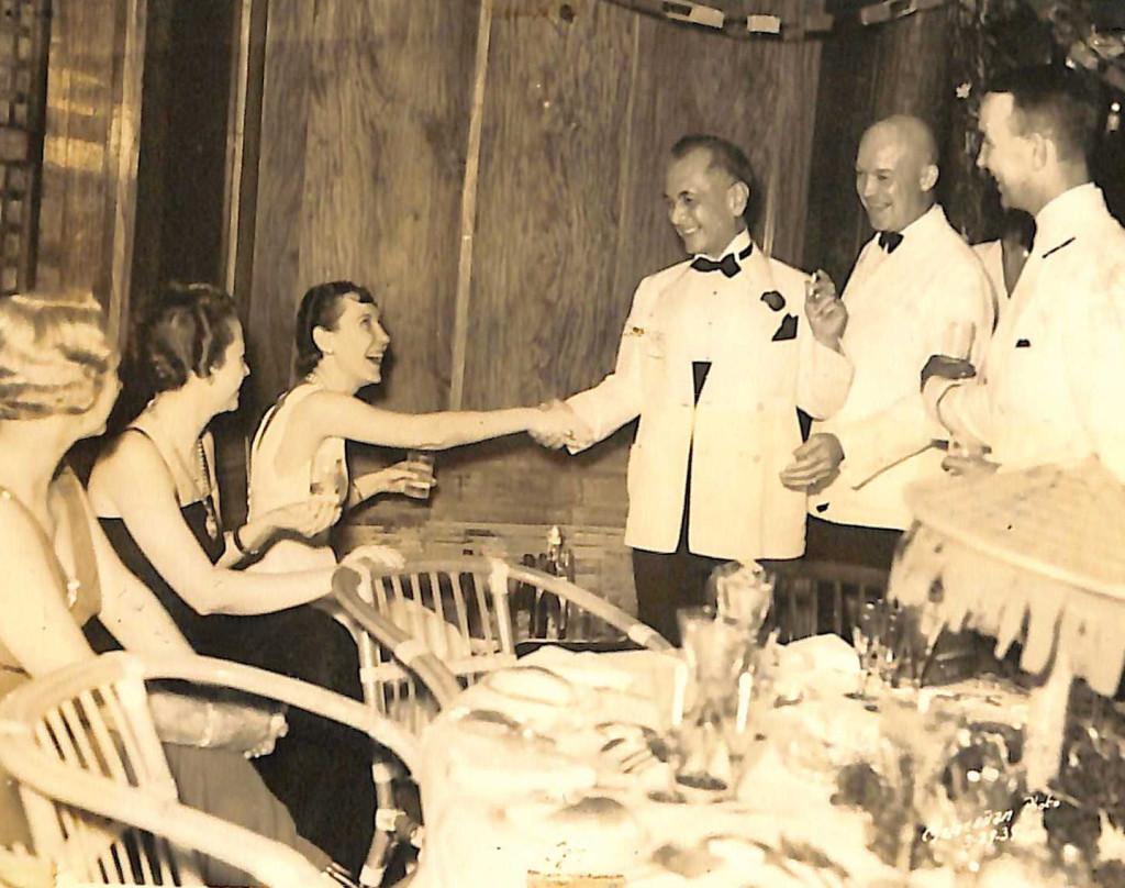 Mamie Eisenhower, President Manuel L. Quezon, Dwight D. Eisenhower, Malacañan Park,1938 (Quezon Family Collection)
